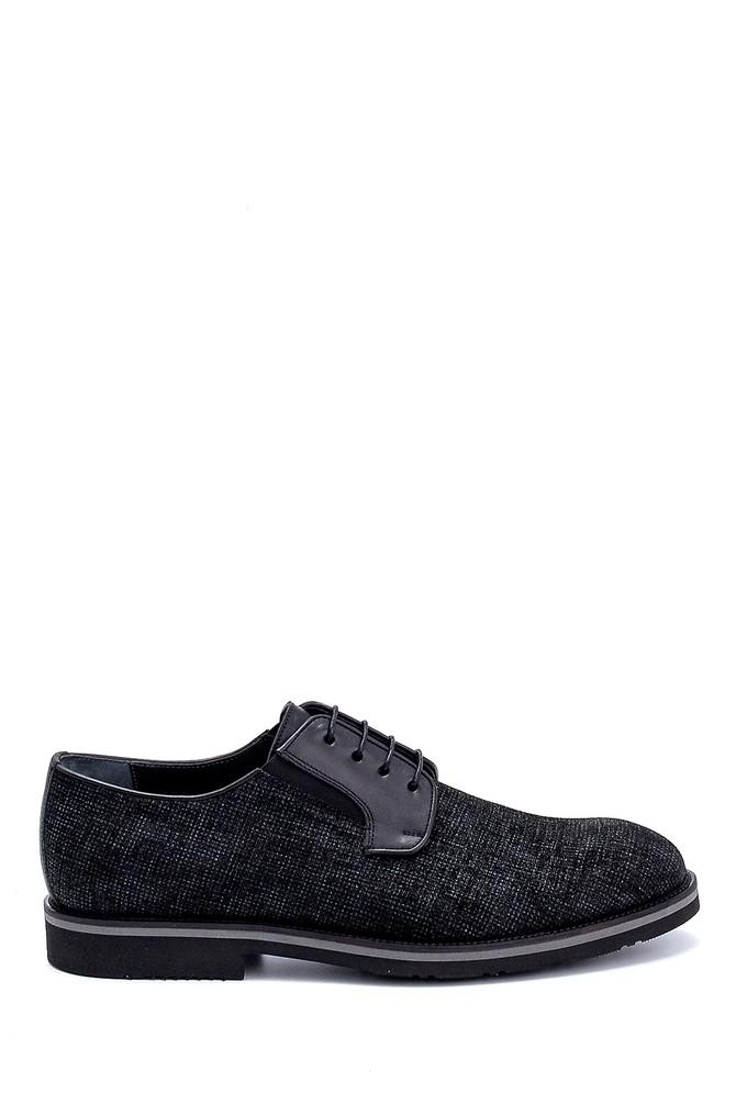 Siyah Erkek Deri Baskılı Ayakkabı 5638275896