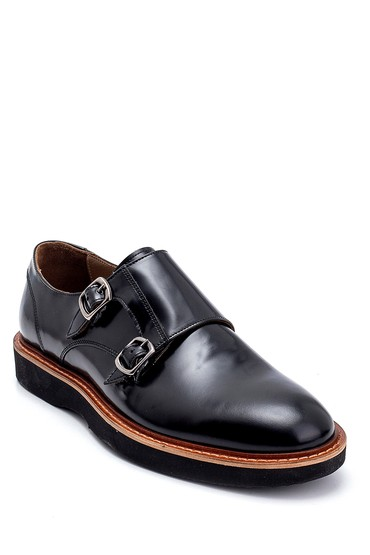 Siyah Erkek Deri Rugan Ayakkabı 5638275342