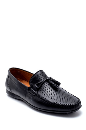 Siyah Erkek Deri Püskül Detaylı Loafer 5638245667