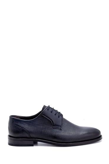 Lacivert Erkek Deri Baskılı Klasik Ayakkabı 5638247544