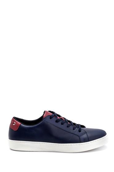 Lacivert Erkek Deri Sneaker 5638247648