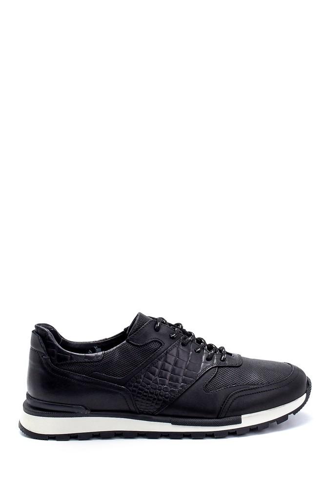 Siyah Erkek Deri Sneaker 5638247891