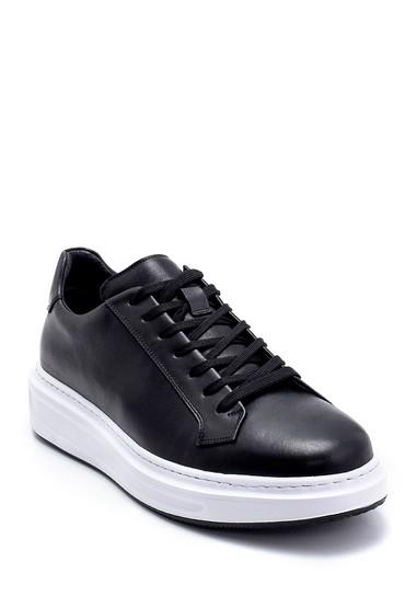 Siyah Erkek Deri Sneaker 5638247931