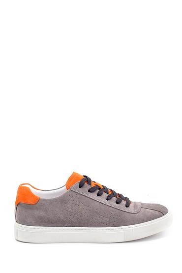 Kahverengi Erkek Deri Süet Detaylı Sneaker 5638248014