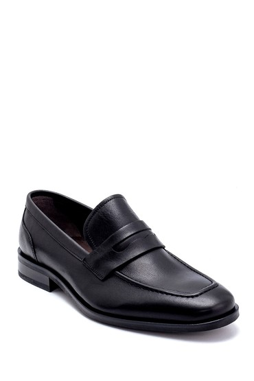 Siyah Erkek Deri Klasik Loafer 5638249506