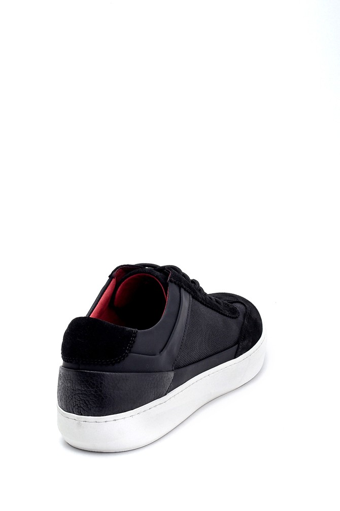 5638253096 Erkek Süet Detaylı Deri Sneaker