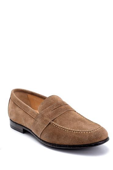 Bej Erkek Deri Süet Klasik Loafer 5638253898