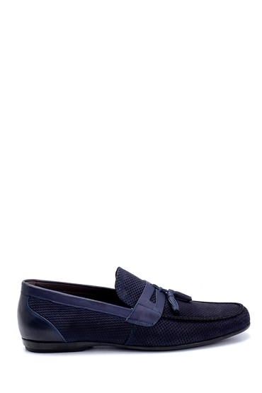 Lacivert Erkek Deri Klasik Loafer 5638260343