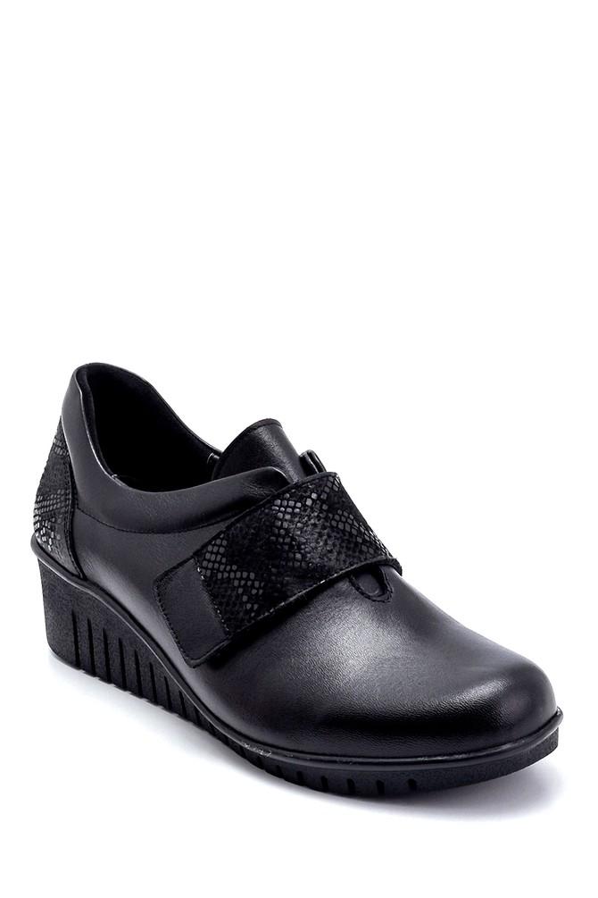5638260637 Kadın Deri Dolgu Topuk Ayakkabı