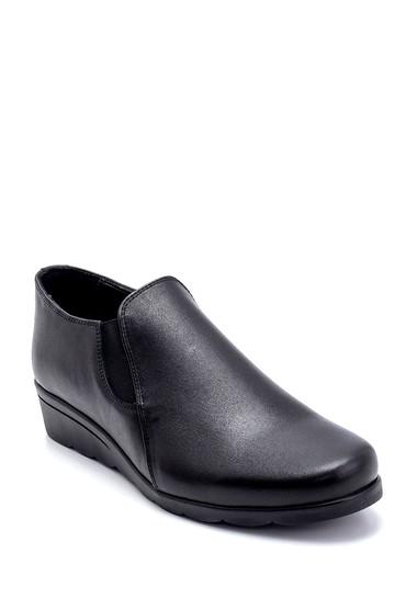 Siyah Kadın Deri Ayakkabı 5638260657
