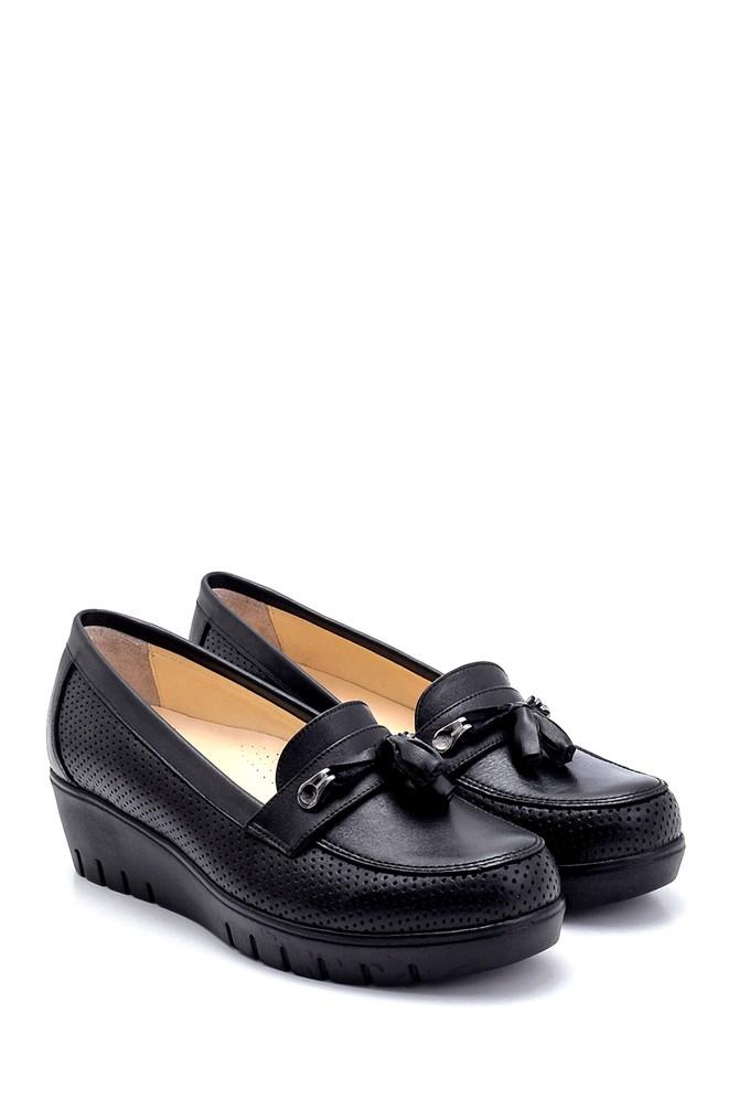 5638265455 Kadın Deri Dolgu Topuk Ayakkabı