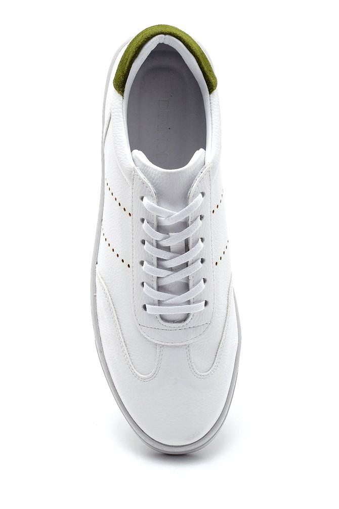 5638276202 Erkek Süet Detaylı Deri Sneaker