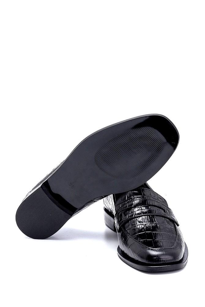 5638247246 Kadın Deri Kroko Detaylı Loafer
