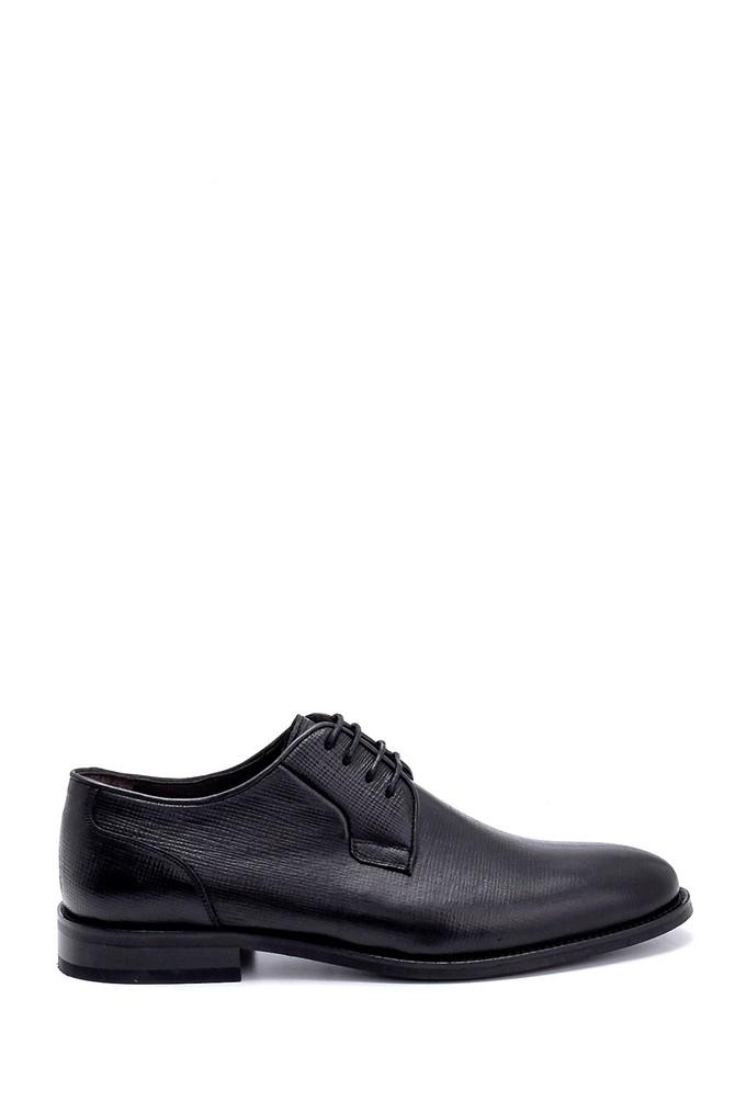Siyah Erkek Deri Baskılı Klasik Ayakkabı 5638247572