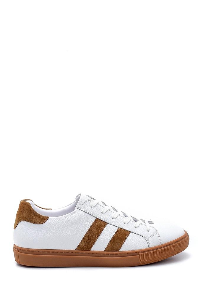 Beyaz Erkek Deri Sneaker 5638247643