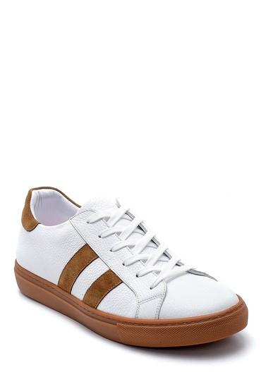 Beyaz Erkek Deri Sneaker 5638247635