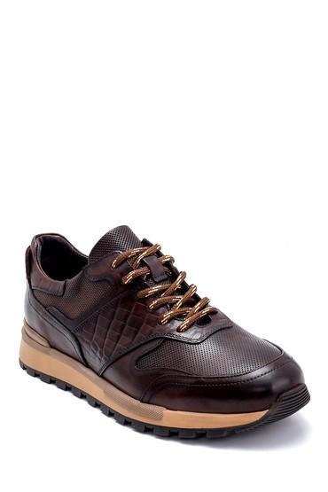 Kahverengi Erkek Deri Sneaker 5638247890