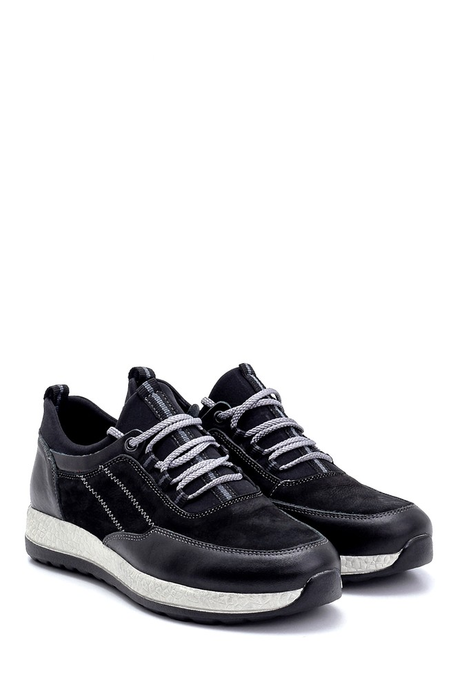 5638248763 Erkek Deri Nubuk Sneaker