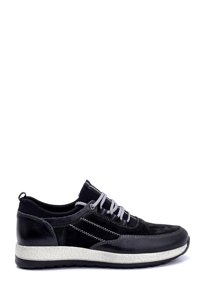 Siyah Erkek Deri Nubuk Sneaker 5638248763