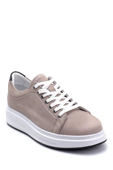 Gri Erkek Deri Nubuk Sneaker 5638253286