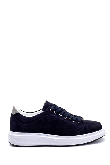 Lacivert Erkek Deri Nubuk Sneaker 5638253280