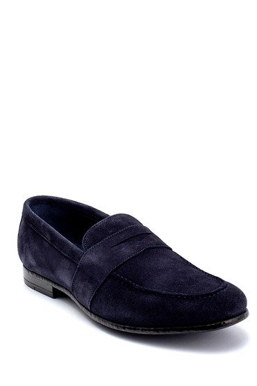 Lacivert Erkek Deri Süet Klasik Loafer 5638253896