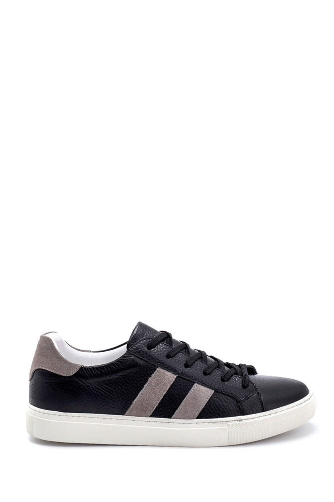 Siyah Erkek Deri Sneaker 5638254129