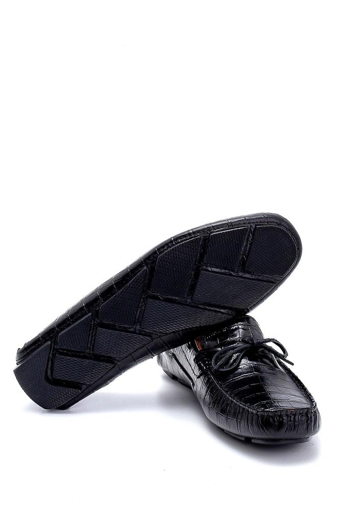 5638265852 Erkek Deri Kroko Desenli Loafer