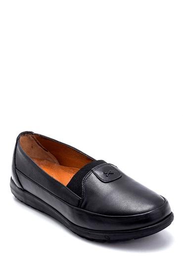 Siyah Kadın Deri Ayakkabı 5638265451