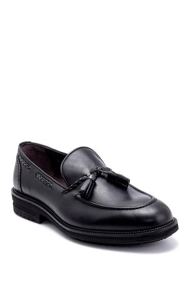 Siyah Erkek Deri Püskül Detaylı Loafer 5638266962