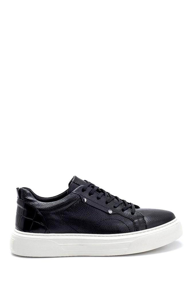 Siyah Erkek Deri Sneaker 5638276153