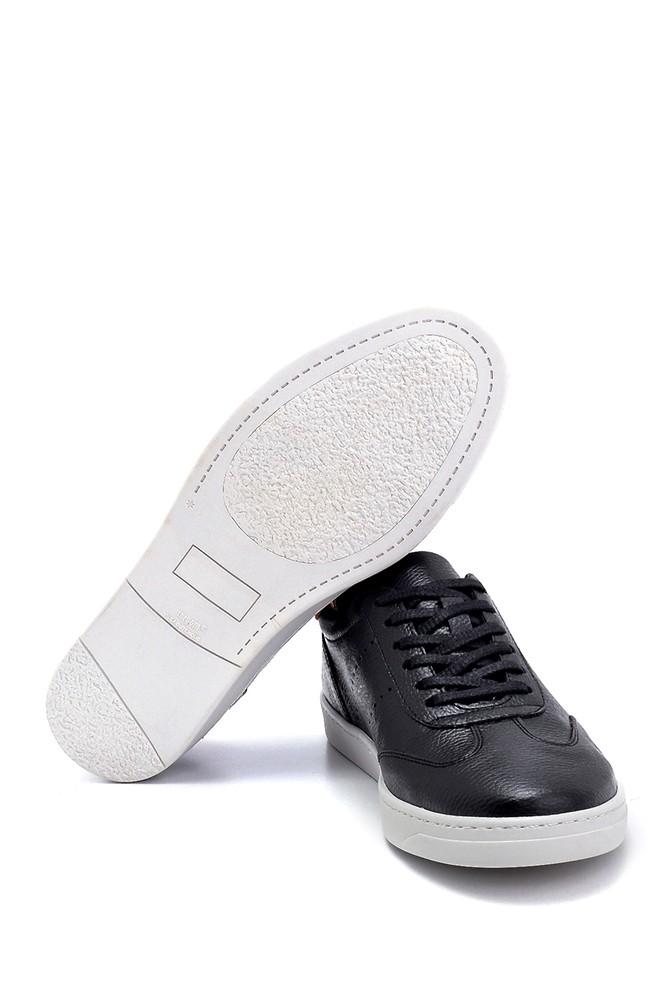5638276192 Erkek Süet Detaylı Deri Sneaker