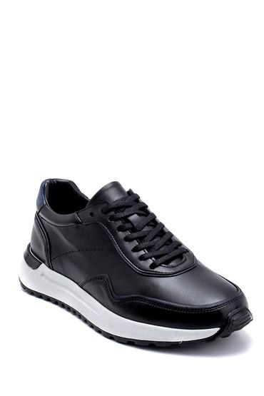 Siyah Erkek Deri Sneaker 5638276217