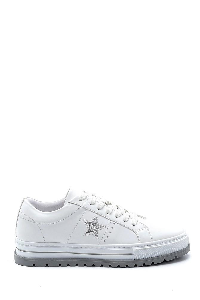 Beyaz Kadın Yıldız Detaylı Sneaker 5638276588