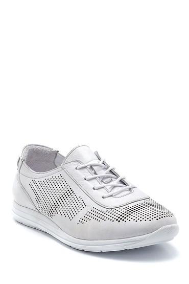 Beyaz Kadın Deri Casual Ayakkabı 5638260052