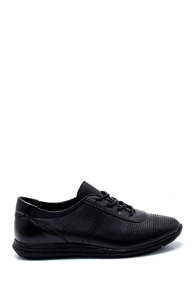 Siyah Kadın Deri Casual Ayakkabı 5638260066
