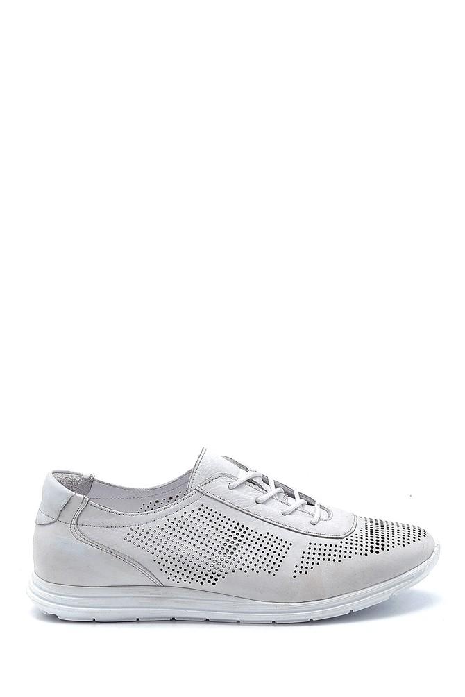 Beyaz Kadın Deri Oxford Ayakkabı 5638260068