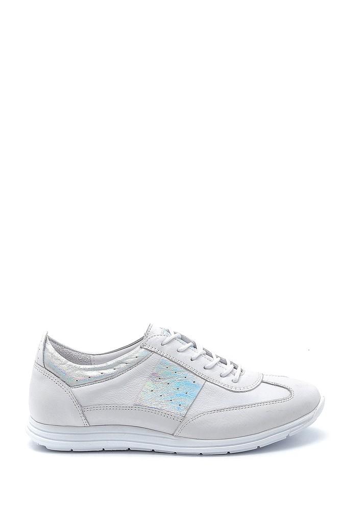 Beyaz Kadın Deri Sneaker 5638260071