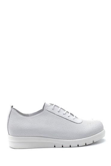 Beyaz Kadın Deri Casual Ayakkabı 5638260090