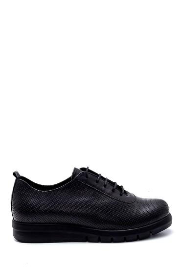 Siyah Kadın Deri Casual Ayakkabı 5638260089