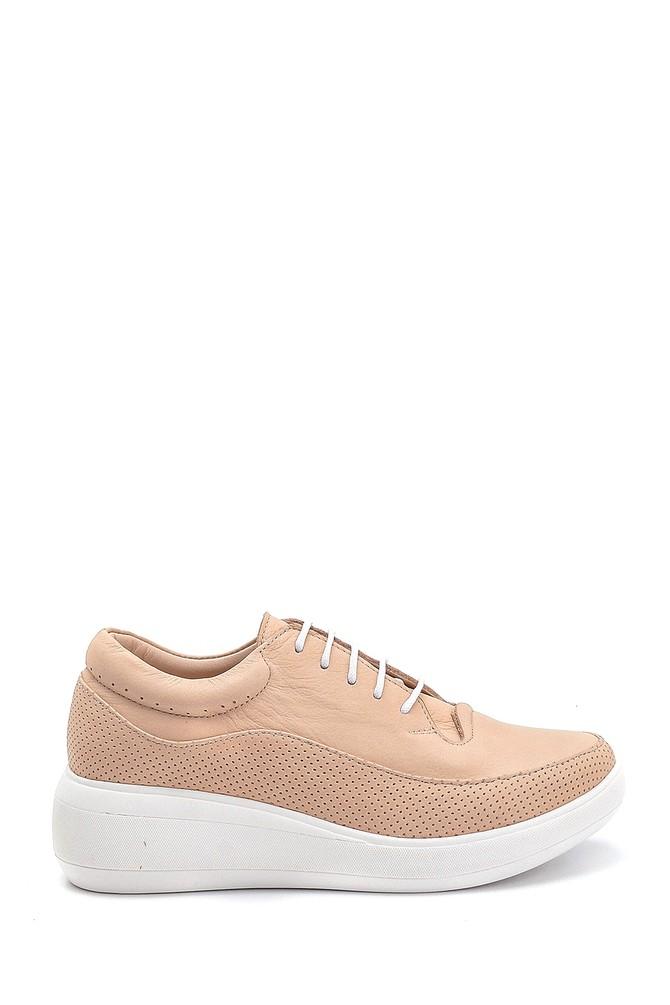 Bej Kadın Deri Günlük Ayakkabı 5638260108