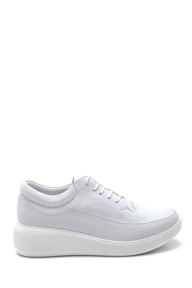 Beyaz Kadın Deri Günlük Ayakkabı 5638260109