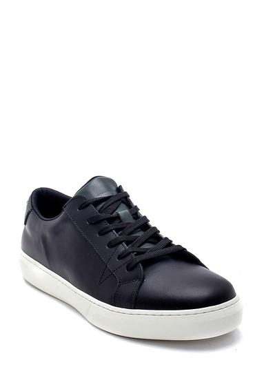 Siyah Erkek Deri Sneaker 5638247652