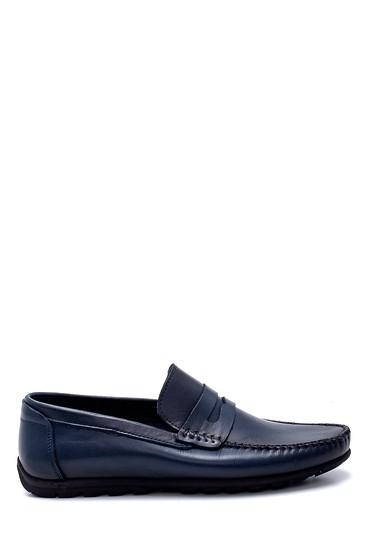 Lacivert Erkek Deri Loafer 5638251381