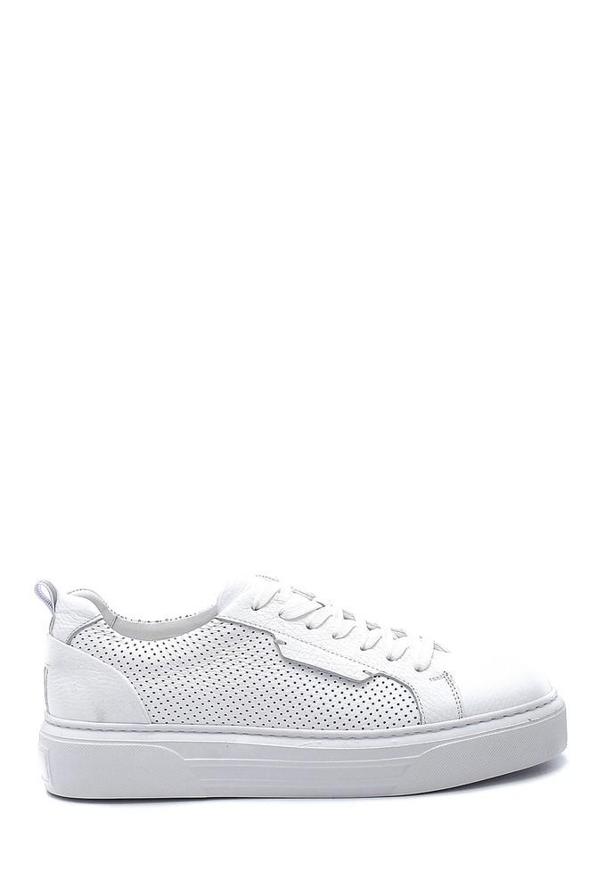 Beyaz Erkek Deri Sneaker 5638254093