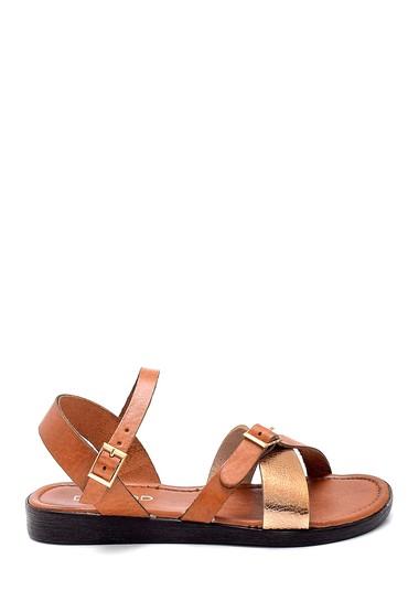 Kahverengi Kadın Deri Sandalet 5638255361