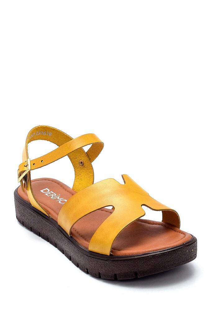 5638255527 Kadın Deri Sandalet