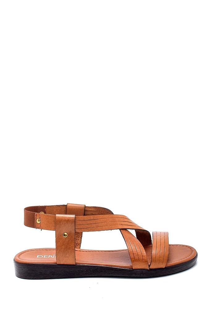 Kahverengi Kadın Deri Sandalet 5638255575