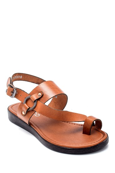 Kahverengi Kadın Deri Sandalet 5638255588