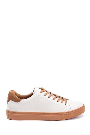 Beyaz Erkek Deri Sneaker 5638248121